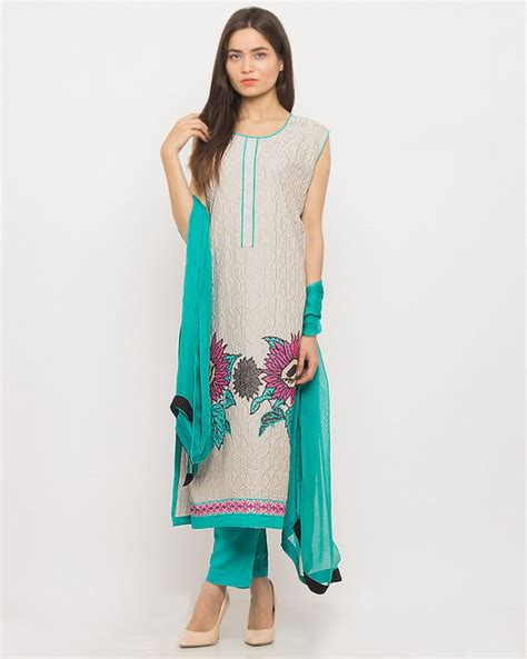 Ladie Dress ready made designer embroidered dress price in
