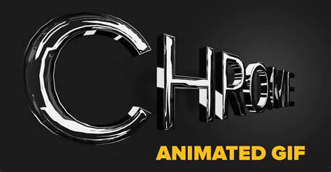 photoshop words chrome tutorial make a 3d chrome text effect and turn it into a rotating