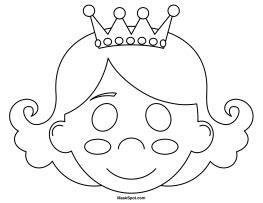 princess mask coloring pages printable princess mask