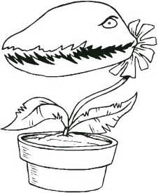 flowers coloring page venus fly trap all kids network