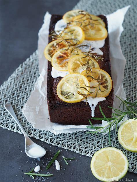 rosmarin kuchen zitronen rosmarin kuchen mit mohn zum kaffee dazu