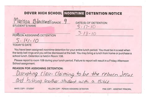 detention slips template 16 detention slips pleated