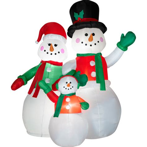 airblown inflatable snowman family scene walmart com