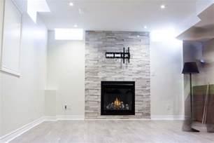 basement fireplaces high tech renovation