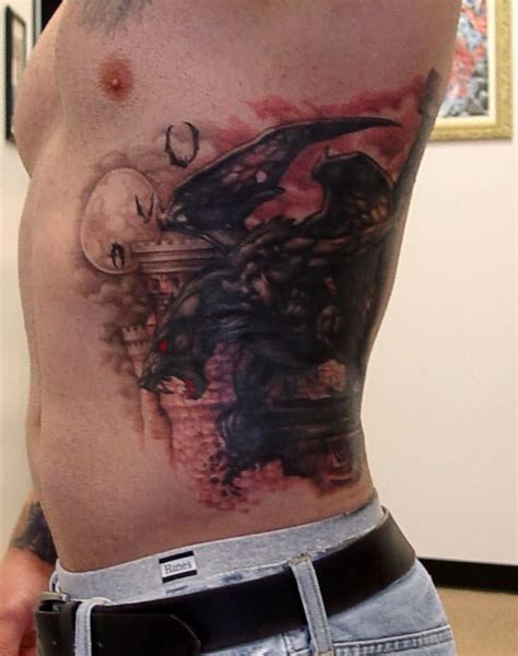 tattoo on ribs for men scary gargoyle on ribs for tattooimages biz
