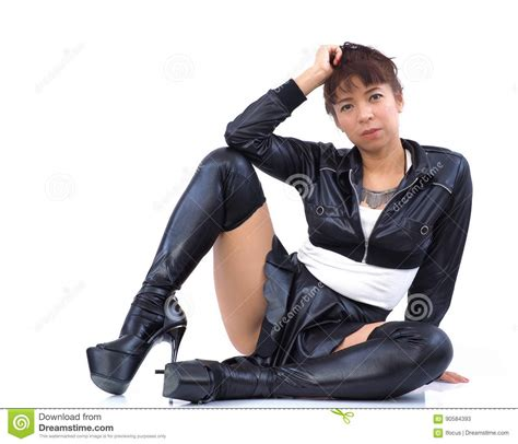 pic thigh highs on floor fetishist asian in black and mini skirt