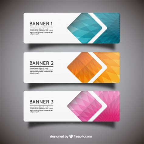 geometric banner templates vector free download