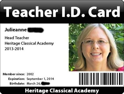 homeschool id template 25 best ideas about card for on
