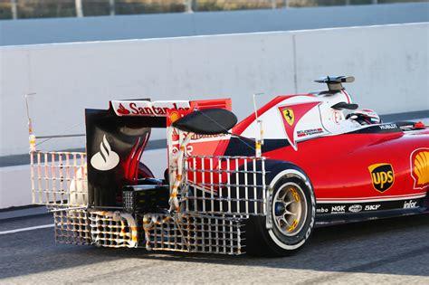 Ferrari 4 T Rig by Aero Rake Device Behind Car F1technical Net
