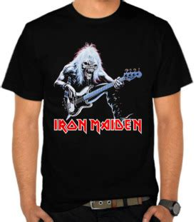 Kaos Band Iron Maiden Nowhere In Time Kaos Gildan Softstyle Irm06 jual kaos iron maiden satubaju kaos distro