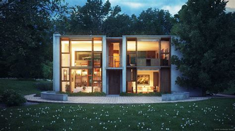 louis house louis kahn s esherick house by ludvik koutny 3d architectural visualization