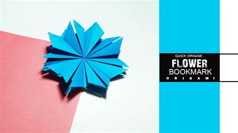 Origami Flower Bookmark - how to make origami flower bookmark easy make origami
