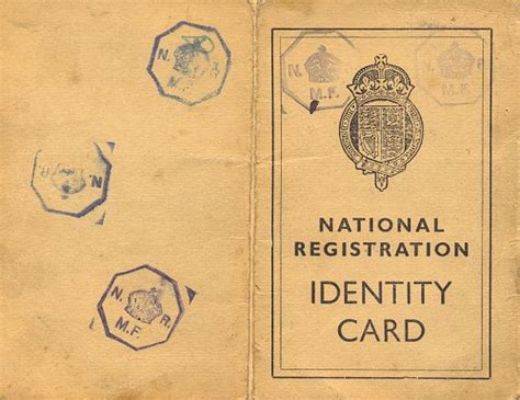 national registration identity card template a brief history of darlaston