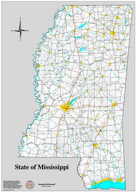 Ms State Map by Downloadable Maps