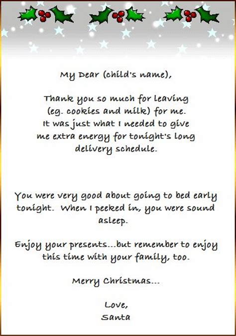 printable christmas thank you letters 17 best images about thank you letter from santa