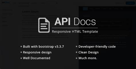 Api Documentation Html Template Api Docs Rest Api Documentation Templates By Pixxet Themeforest