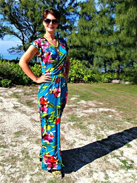 tropical pattern clothes tropical wrap dress pattern allfreesewing com
