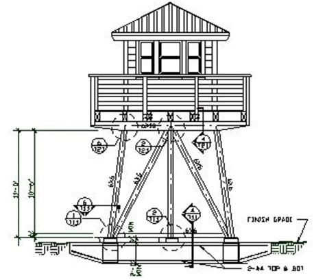 fire tower plans towers large windows and loft on pinterest