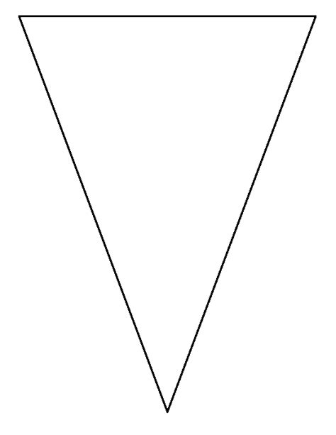 triangle pattern to trace triangle bunting pattern use the printable outline for