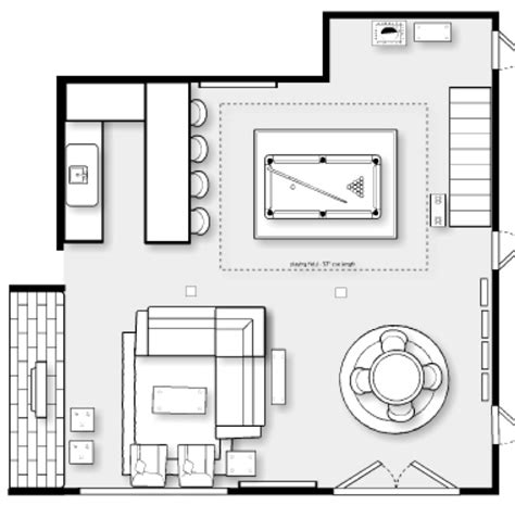 game room floor plans ideas the yellow cape cod family cave lower level basement