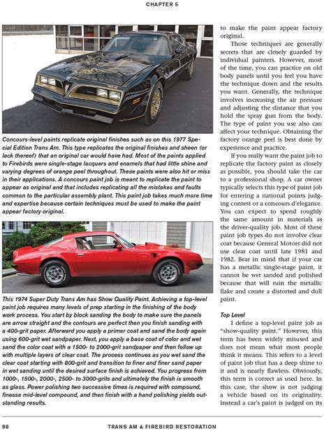 the definitive firebird trans am guide 1970 1 2 1981 books pontiac firebird trans am restoration manual book 1970 1 2