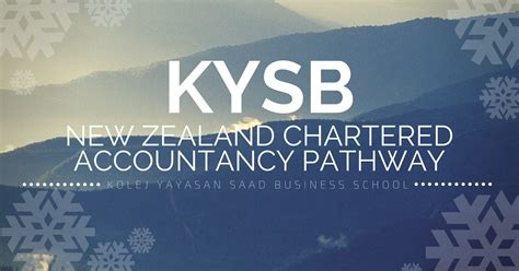 Chartered Accountant Mba Harvard by New Zealand Chartered Accountancy Pathway Program In Kys