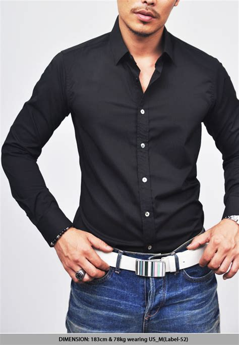 Dress Polos Cut Black Lunna Cewek sales tops designer killer slim cut black dress shirt 62 guylook s trendy fashion