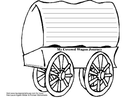 covered wagon journal activity printable for little house