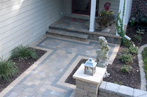 pavers front yard patio and walkway ideas front yard paver patio designs