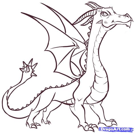 Easy Way To Draw A by How To Draw Easy Dragons Step By Step Dragons Draw A