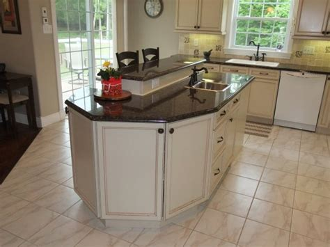 2 level kitchen island two level breakfast island kitchen breakfast bar pinterest