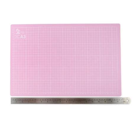 a3 pink cutting mat with metal ruler qvc uk