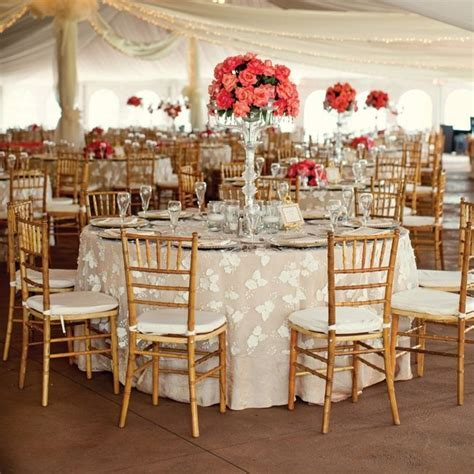 Coral and Ivory Reception Decor   Stackwood Studios