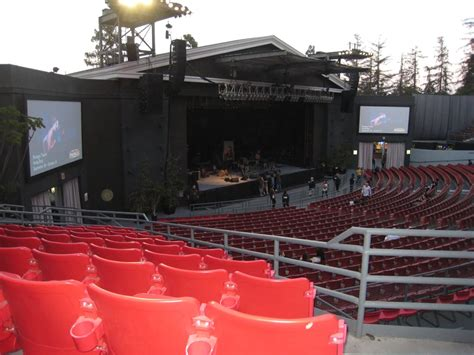 section c greek theater seating view north terrace row a seat 17 yelp