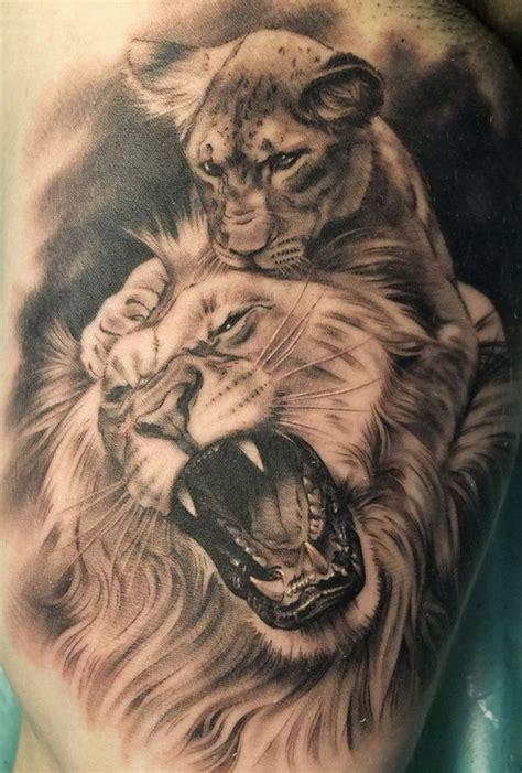imagenes leones tatuajes resultado de imagen de tatuajes de leon y su cachorro