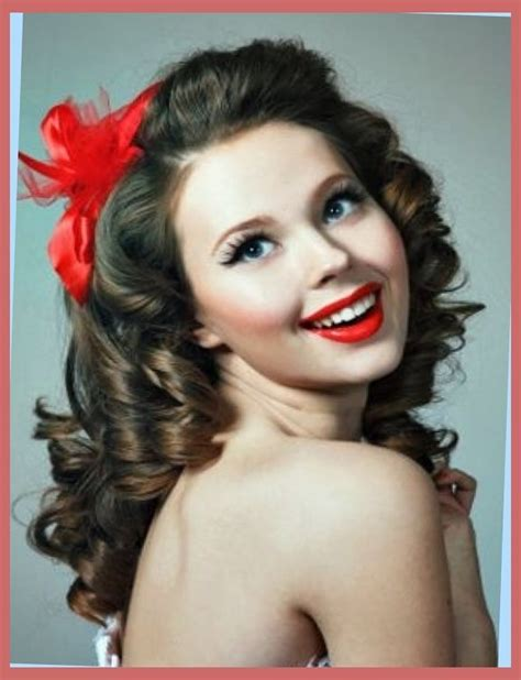 Hairstyles For In 50 S by Curly Hairstyles Easy 50s Hairstyles For Curly Hair