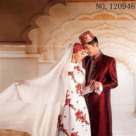 islamic dress white blue abaya muslim wedding evening dress clothing in islamic