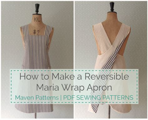japanese apron pattern pdf the maria wrap apron reversible tutorial avental dicas
