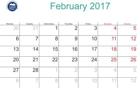 printable calendar february 2017 2017 february calendar printable printable 2017 calendar