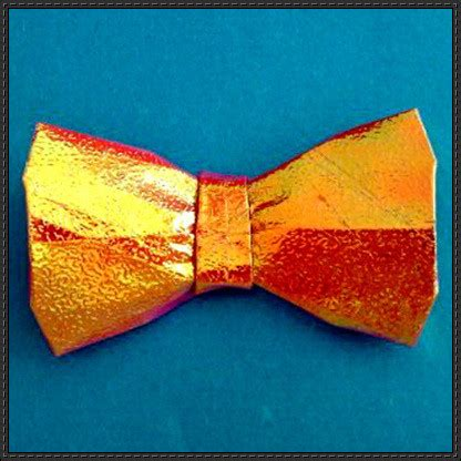 How To Make A Bow Tie Origami - papercraftsquare new paper craft how to fold an