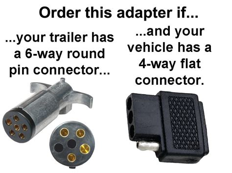 4 way flat to 6 way pin connector adapter adapters