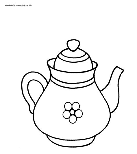 teapot coloring free coloring pages on art coloring pages