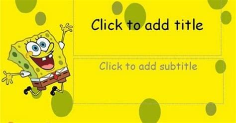 spongebob powerpoint template simple and special anime template spongebob