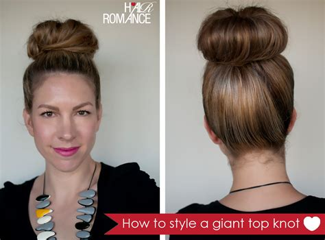 how to create messy hair with lots of volume top knot hair