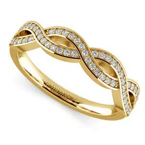 infinity wedding ring infinity twist wedding ring in yellow gold