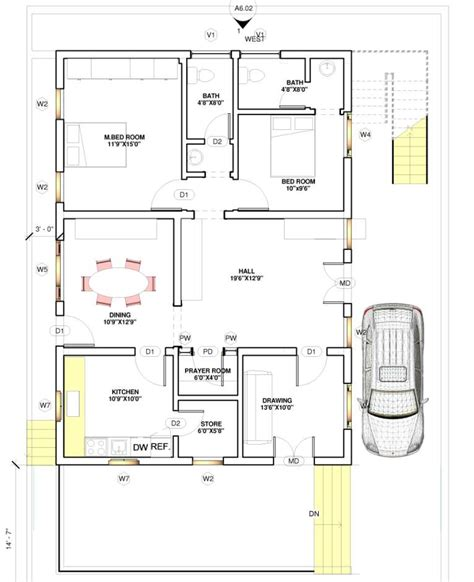 home design 15 x 60 facing house plans for 60x40 site