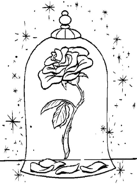 beauty and the beast coloring pages rose disney beauty and the beast coloring pages