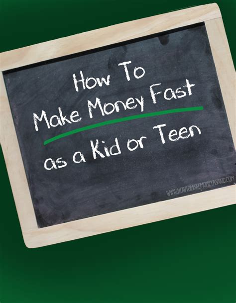 How To Make Money Fast Online For Kids - how to make 100 fast as a kid or teen