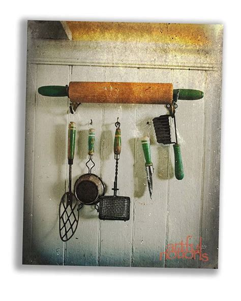vintage things for bedrooms old kitchen utensils hanging from an old rolling pin