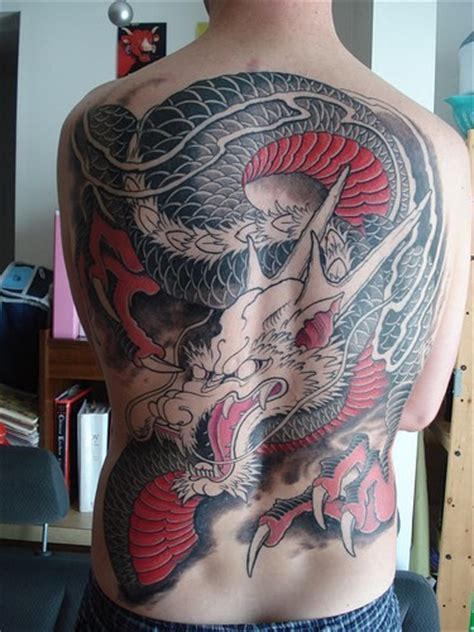 body painting japanese dragon tattoo designs